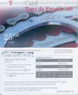 Prepaidcard Deutschland  - T - Card  - Tour De France ´99 - 08/00 - 25 DM - Deutschland