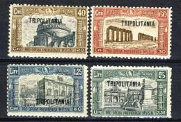 Tripolitania 1926 SS 10 Milizia 1,  N. 39-42 MH Cat. € 20 - Tripolitania