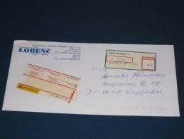 1 Briefe Cover Tschechei Tchechische Republik Ceske Klatov ATM Automatenmarken Label Used 0 Gestempelt 1993 - Tschechische Republik