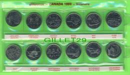MONNAIES, CANADA 1999 MILLENAIRE SET DE 12 X  25 CENTS - MINT CONDITION - ÉTUI ORIGINALE INCLUS - - Canada