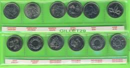 MONNAIES, CANADA 2000  MILLENAIRE SET DE 12 X  25 CENTS - MINT CONDITION - ÉTUI INCLUS - - Canada
