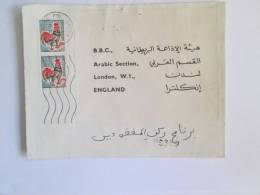 FRANCE ARABIC COVER TO BBC LONDON RHONE POSTMARK - 1962-65 Cock Of Decaris