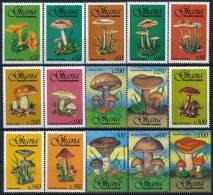Ghana Mushrooms Pilze Set (15) °BM0343 MNH - Pilze