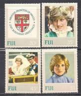 Fiji    Princess Diana    Set   SC# 470-73 MNH** - Fiji (1970-...)