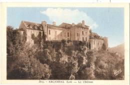 ARCAMBAL  Le Château écrite  TTB - Autres Communes