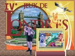 gu0707a Guinea 2007 Sports Olympic s/s Longon 1908 Diana high jump Space Bridge Space Boxing