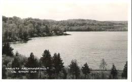 Chalets Archambeault, Lac Simon, Quebec  Photo Veritable - Autres