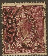 AUSTRALIA 1918 1 1/2d Red-brown KGV SG 52 U YH361 - 1913-36 George V: Heads