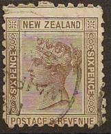 NZ 1882 6d Brown QV SSF P10x11 SG 234 U YD55 - 1855-1907 Crown Colony
