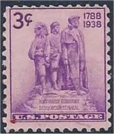 USA / États-Unis  1938  # 837   ( Northwest Territoy Sesquicentennial ) - United States