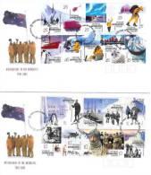 AAT 2001 Australians In Antarctic Set 2 FDCs - Australian Antarctic Territory (AAT)