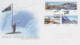 AAT 2004 Mawson Station 50th Anniversary FDC - Australian Antarctic Territory (AAT)