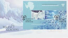 AAT 2009 Poles & Glaciers MS  FDC - Australian Antarctic Territory (AAT)