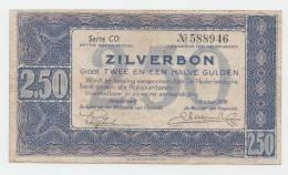 Netherlands 2.5 Gulden 1938 Zilverbon VF+ CRISP Banknote P 62 - [2] 1815-… : Regno Dei Paesi Bassi