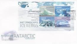 AAT 2011 Landscapes Icebergs MS  FDC - Australian Antarctic Territory (AAT)