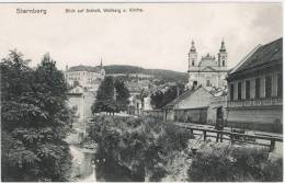 STERNBERG: M BLICK  AUF  SCHLOSS  -  WALBERG  U. KIRCHE  -  FP - Sternberg