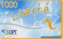 """Nouvelle Telecarte Liberté 1000 De Nouvelle Caledonie """" Hippocampe """" Serie 1 - Neukaledonien"""