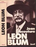 LACOUTURE Jean- LEON BLUM  - Editions Du Seuil, -  Année 1977 - Biographie
