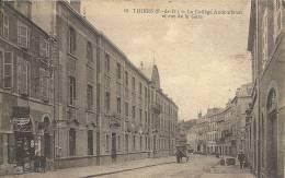 Puy-de-Dôme- Thiers -Le Collège Audembrun Et Rue De La Gare. - Thiers