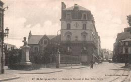35 ST SERVAN SUR MER STATUE DE BOUVET ET RUE VILLE PEPIN PAS CIRCULEE - Saint Servan