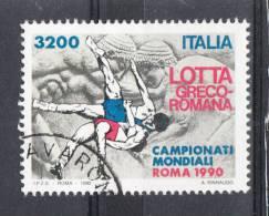 Italia   -   1990.  Mondiali  Di  Lotta. Wrestling Championship. Timbro Lusso - Lotta