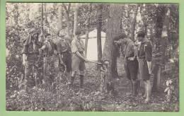 CHAMARANDE, Carte Photo : Taille D'un Arbre. Scouts De France, Années 1920. 2 Scans - Scoutisme
