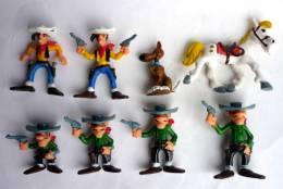 SERIE COMPLETE DE 8 FIGURINES LUCKY LUKE BRABO 1978 LES DALTON JOLIE JUMPER RANTANPLAN - Figurines