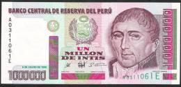PERU   P148   1.000.000  INTIS    1990    UNC. - Pérou
