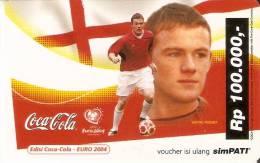 TARJETA DE INDONESIA DE COCA-COLA DE WAYNE ROONEY (COKE)  FUTBOL-FOOTBALL - Publicidad