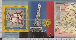S2556 PARIS METRO MAPPA DELLA CITTA - Carte Stradali
