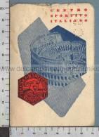 S2557 CENTRO SPORTIVO ITALIANO TESSERA D ISCRIZIONE ANNNI 50 - Vecchi Documenti