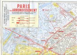 PLAN DE PARIS (Bd Péripherique, Portes De Paris, Métro, RER, SNCF Et Toutes Les Rues De Paris Et De La Proche Banlieue. - Europe