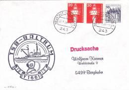 Ship Cover: 1984 Y1661 Divers School Boat TSB-Baltrum Dtd Neustadt (G3-2) - Ships