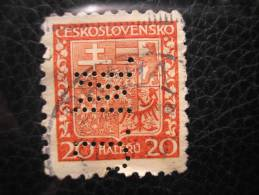 Tchécoslovaquie - Perforé Perfin J.M. - Tsjechoslowakije