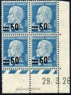 FRANCE N°222** TYPE PASTEUR COIN DATE DU 29/03/1926 - Coins Datés