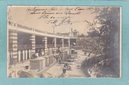 LIDO  D ´ ALBARO. -  1908  -  CARTE  PHOTO  ANIMEE - - Genova (Genoa)