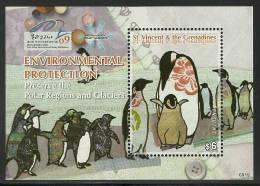 sav0919ss St. Vincent 2009 Birds International Polar Year s/s IPY 2007~2008 Penguin