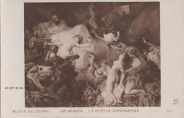 MUSEE DU LOUVRE LA MORT DE SARDANAPALE - Musées