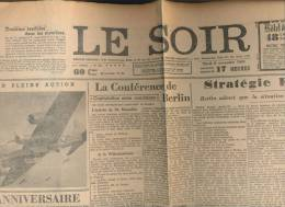 Le SOIR - Faux Soir Du 9 Novembre 1943 - Bombardier Americain ++ - Journaux - Quotidiens