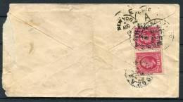 1896 Sweden -  Buffalo North Dakota USA Railway Postage Due Taxe Cover