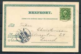 1901 Sweden Kalmstad Tivoli Postcard PKXP Railway