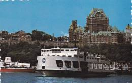 Quebec View From Ferry Boat, Levis, Quebec, Canada, PU-1984 - Levis