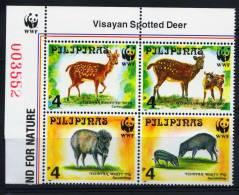 PHILIPPINEN - 4Block 1997, Visayan Spotted Deer (tie194) - Unclassified