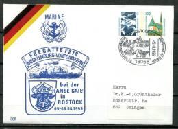 "Germany 1999 Privatganzsache/ Cover Marine""Fregatte F218, Mecklenburg-Vorp.""mit SoSt ""18055 Rostock-7.Hanse Phil""1 Beleg - BRD"