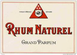 RHUM  NATUREL  12.5x9 Cm - Rhum
