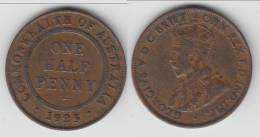 AUSTRALIE - AUSTRALIA **** 1/2 PENNY 1925 - HALF PENNY 1925 GEORGE V **** EN ACHAT IMMEDIAT !!! - Monnaie Pré-décimale (1910-1965)
