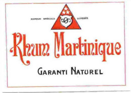 RHUM  MARTINIQUE  12.5x9 Cm - Rhum