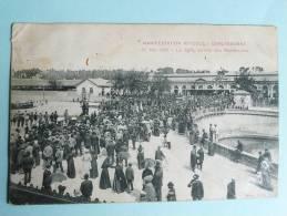 CARCASSONNE - Manifestation Viticole, Le 26 Mai 1907, La Gare , Arrivée Des Manifestants. - Carcassonne