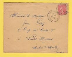 - Enveloppe Voyagée Par Bateau ( Voir Cachet ) - Marseille à Yokohama - 1932 - Envoyée à Neuves Maisons - Marcophilie (Lettres)