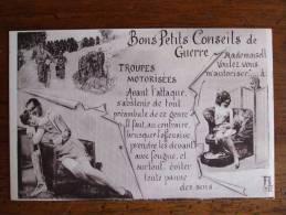 MILITARIA HUMOUR  - AL2 -  BONS PETITS CONSEILS DE GUERRE - TROUPES MOTORISEES - Humor